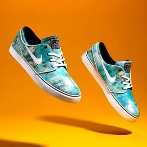 Nike sb tie dye janoski turbo green new